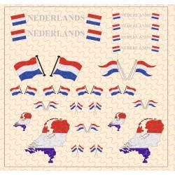 Flaggenset Niederlande