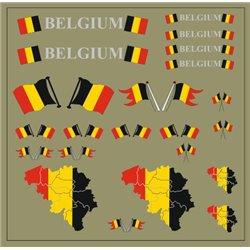 Flaggenset Belgien
