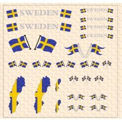 Flaggenset Schweden