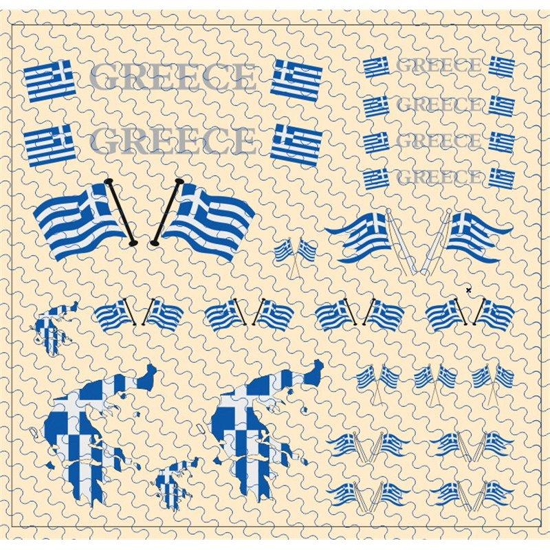 Flaggenset Griechenland