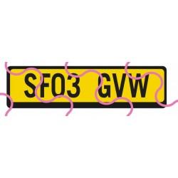 Kennzeichen GB/gelb