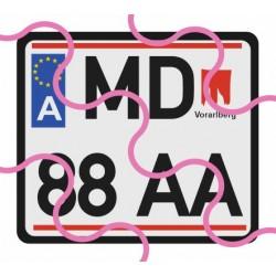 Kennzeichen A/EU/quadratisch