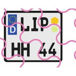 Kennzeichen D/EU/quadratisch