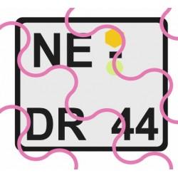 Kennzeichen D/alt/quadratisch
